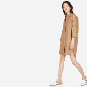 Everlane The Cotton Two-Pocket Shirt Dress